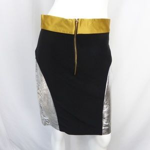 80s Metallic Pencil Skirt Size L
